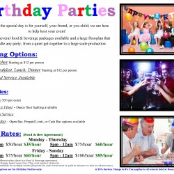 BIRTHDAY PARTIES POSTER