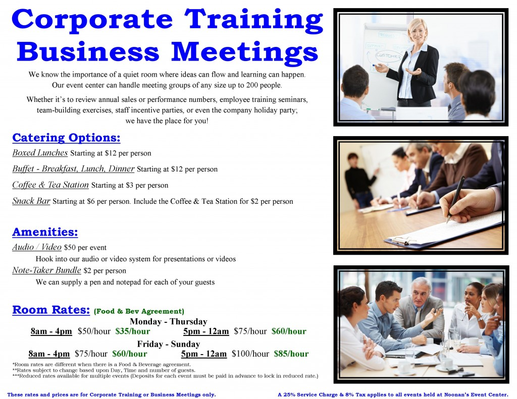 CORPORATE MEETING POSTER